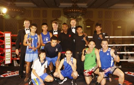 participants to a IBI co-sponsored a charity boxing event