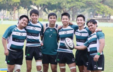 six young players from tin shui wai pandas rugby club