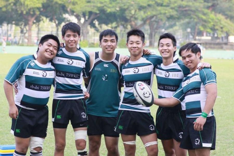 six young players from tin shui wai pandas rugby club