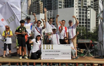 podium of the hong kong 24 hour charity pedal kart grand prix