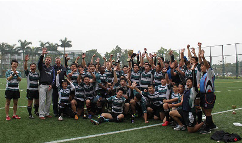 team picture of all tin shui wai pandas rugby club players