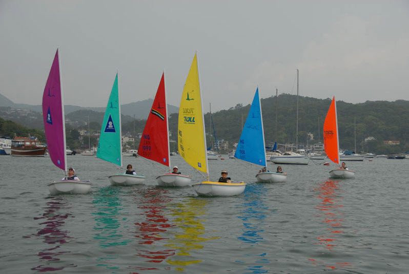 six sailing boat from the sailability hong kong programme