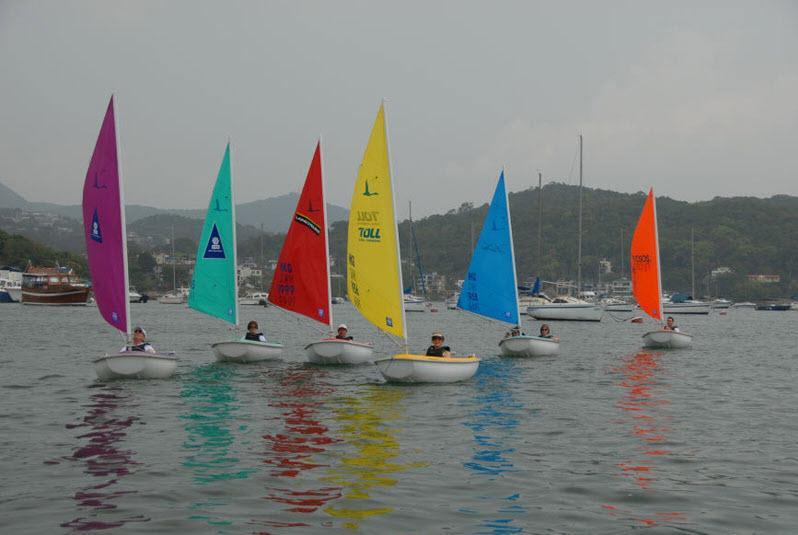 six sailing boat from the sailability hong kong programme